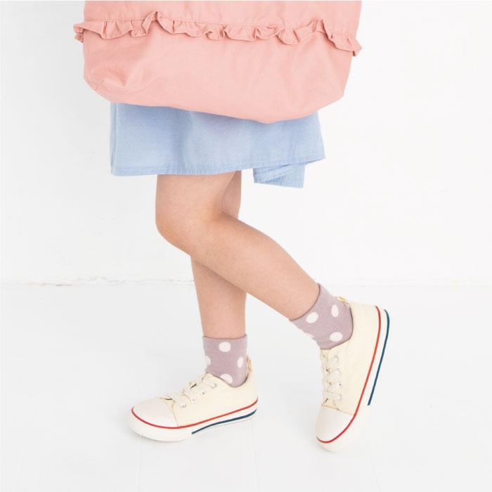 stample スタンプル スタンダードドットショートソックス 3足組 靴下 くつ下 キッズ 子供 お揃い