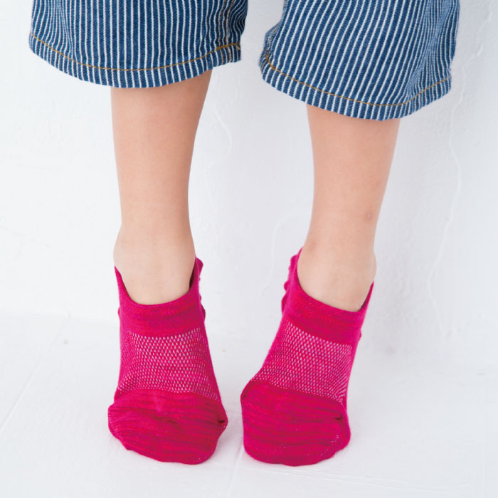 stample スタンプル ミックスローカットソックス 3足組 靴下 くつ下 キッズ 子供