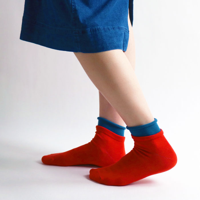 stample スタンプル レイヤード風ショートソックス 3足組 靴下 くつ下 キッズ 子供 親子お揃い
