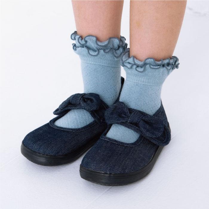 stample スタンプル ダブルフリルショートソックス  3足組 靴下 くつ下 キッズ 子供 お揃い