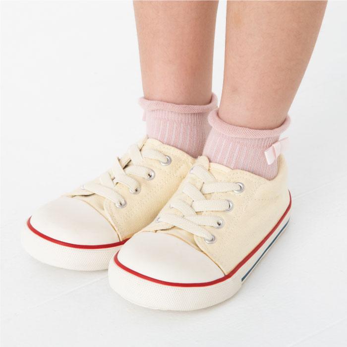 stample スタンプル グログランリボンショートソックス  3足組 靴下 くつ下 キッズ 子供 お揃い