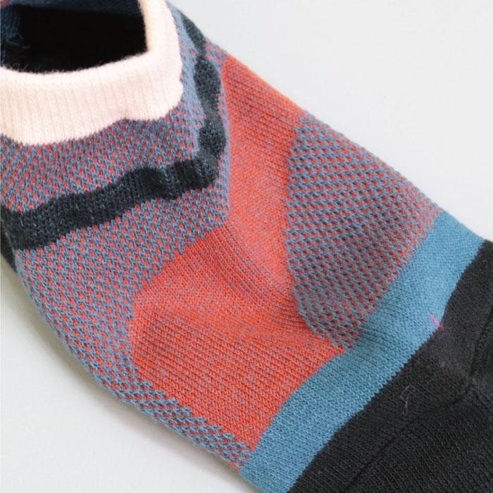 スタンプル stample ウェザーパターンメッシュアンクルソックス 3足組 子供 靴下 キッズ