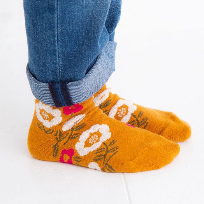 stample スタンプル 花×花ショートソックス3足組 靴下 くつ下 キッズ 子供
