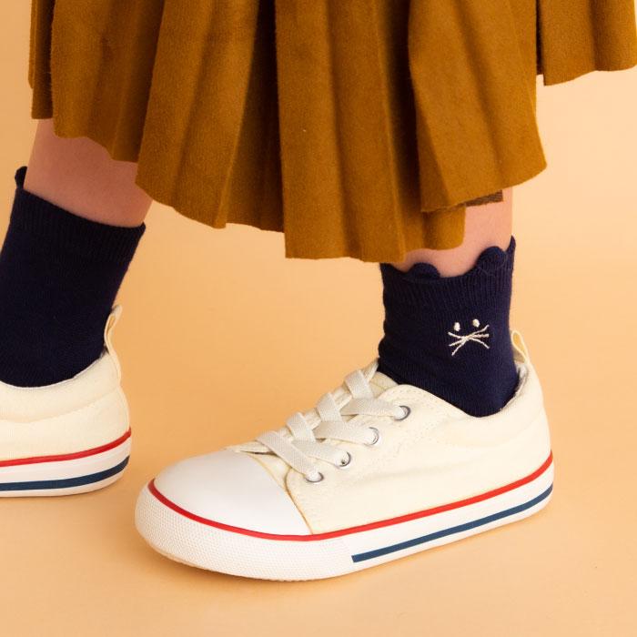 stample スタンプル ねこショートソックス3足組 靴下 くつ下 キッズ 子供