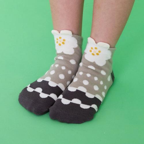 stample スタンプル ガールズモチーフ アンクルソックス 3足組 ネコ ねこ 猫 りぼん フラワー 靴下 くつ下 キッズ 子供 女の子