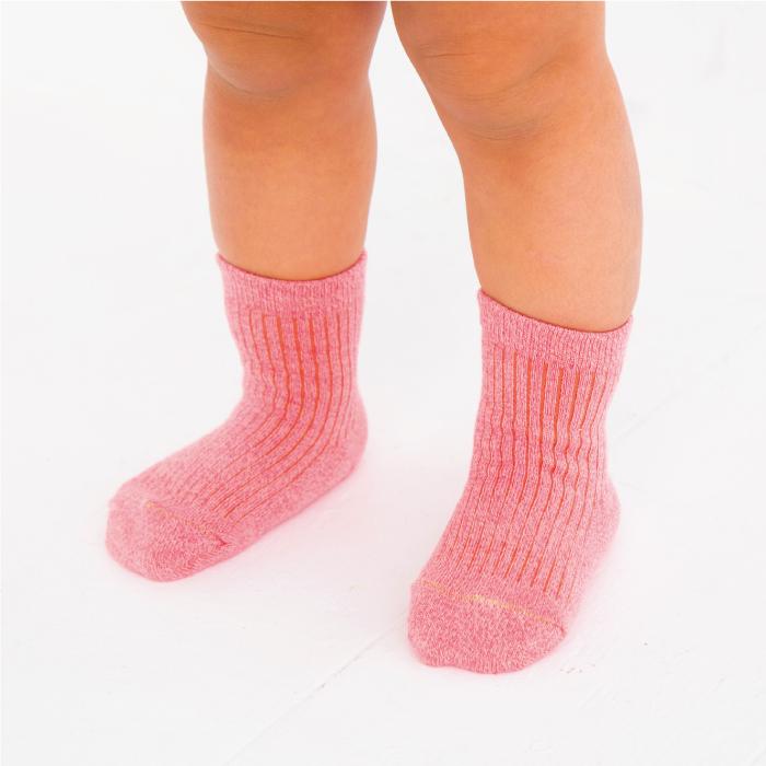 stample スタンプル ヘザーツイストベビークルーソックス3足組 靴下 くつ下 ベビー 子供