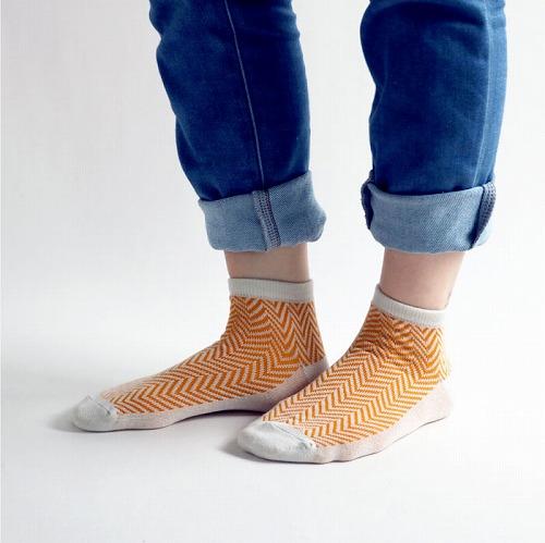 スタンプル stample ヘリンボンアンクルソックス3足組 靴下 くつ下 キッズ 子供