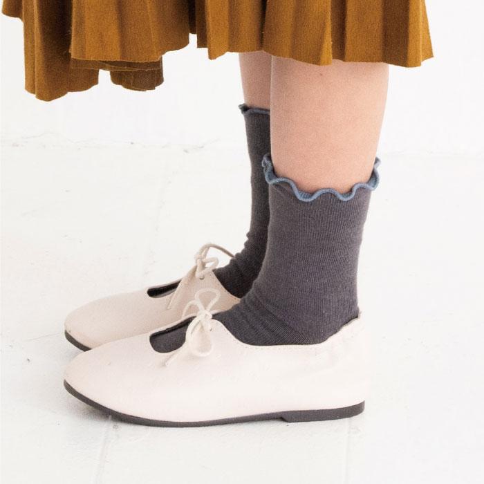 stample スタンプル 折り返しメロウショートソックス 3足組 靴下 くつ下 キッズ 子供 お揃い
