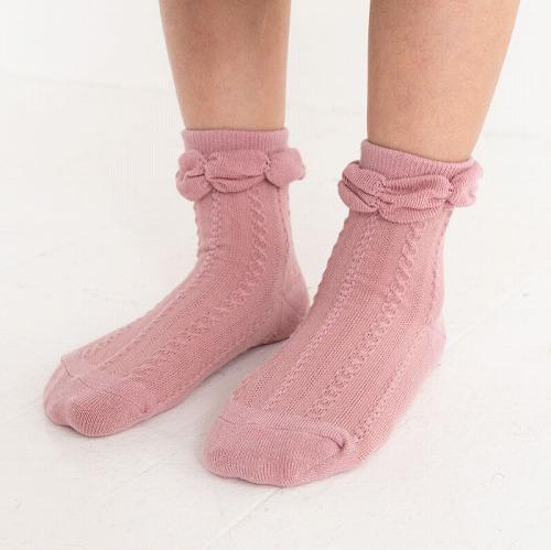 stample スタンプル フロートケーブルショートソックス  3足組 靴下 くつ下 キッズ 子供 お揃い