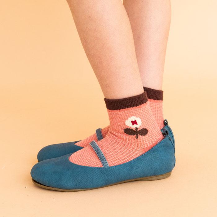 stample スタンプル フラワーガーデンショートソックス3足組 靴下 くつ下 キッズ 子供