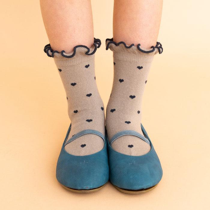 stample スタンプル ハートチェリークルーソックス3足組 靴下 くつ下 キッズ 子供