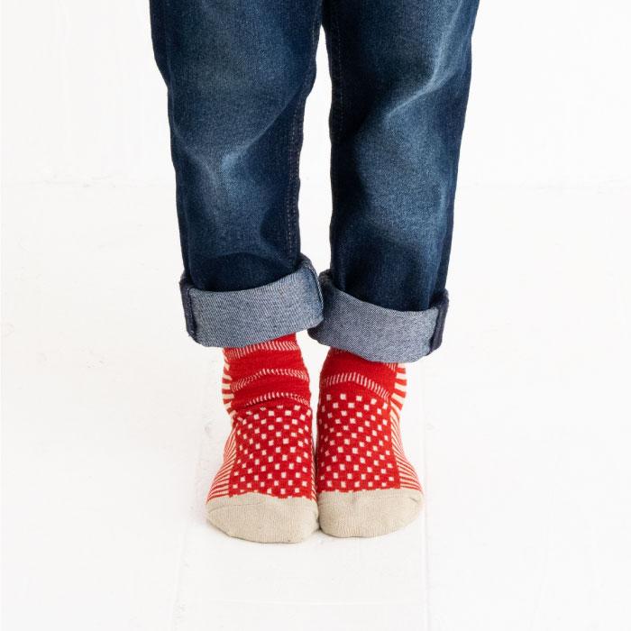 stample スタンプル ピアノクルーソックス3足組 靴下 くつ下 キッズ 子供