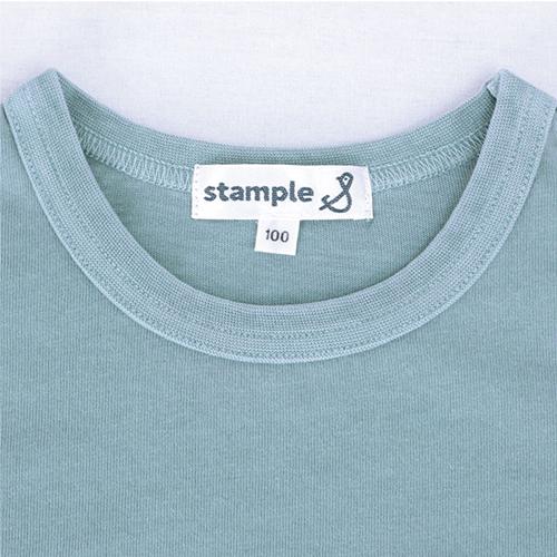 stample スタンプル Tシャツ 家族お揃い 半袖シャツ シンプル 無地 綿100%