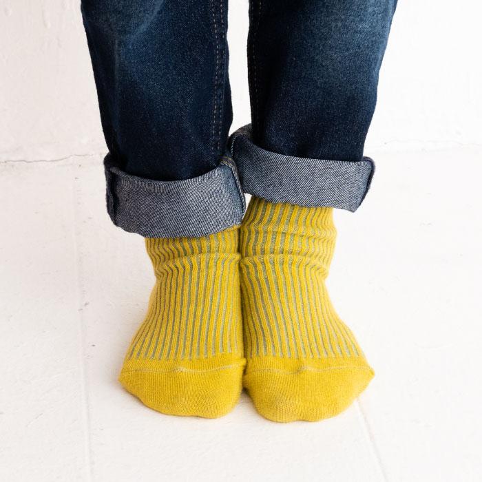 stample スタンプル うら糸配色リブクルーソックス3足組 靴下 くつ下 キッズ 子供
