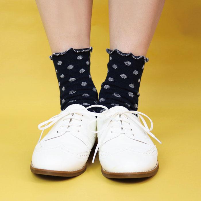 stample ドットラメショートソックス 靴下 くつ下 キッズ 子供