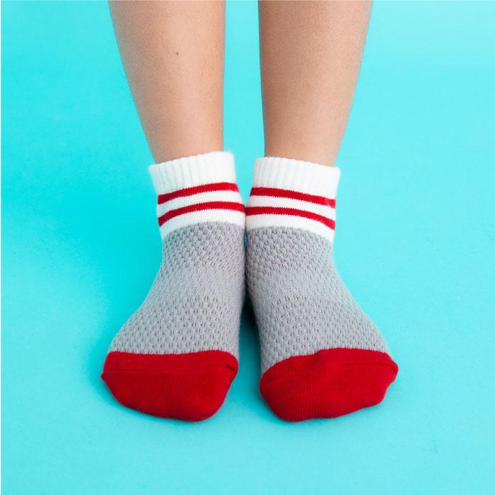 stample スタンプル ワッフルラインアンクルソックス 3足組 靴下 くつ下 キッズ 子供