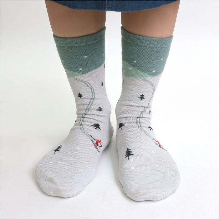 stample スノースポーツクルーソックス3足組 靴下 くつ下 キッズ 子供
