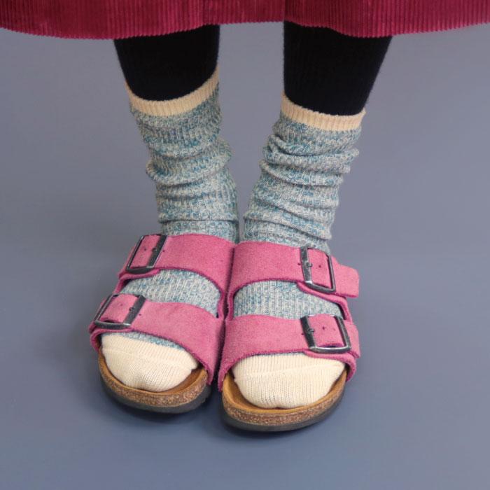 stample スラブリブ クルーソックス3足組 靴下 くつ下 キッズ 子供 男の子 女の子 秋 冬