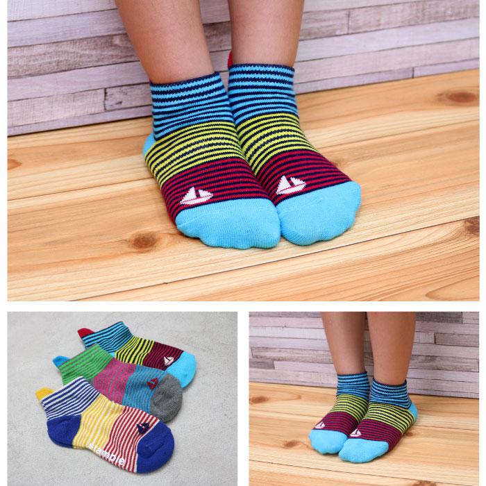 【新色追加】スタンプル(stample)  マリーナアンクルソックス3足組 靴下 くつ下 キッズ 子供