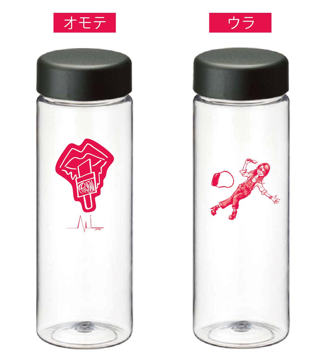 500ml オリジナルイラストクリアボトル