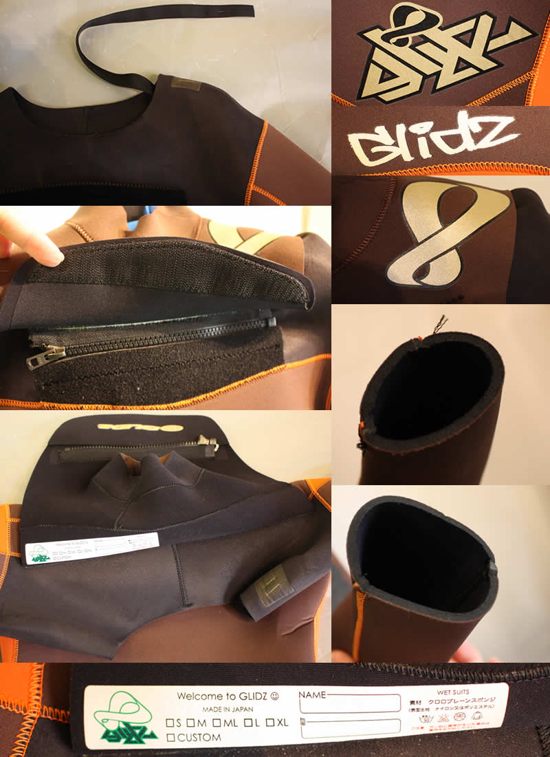 【中古】GLIDZ(グライズ)ウエットスーツ[BROWN/ORANGE]レディース  3mm ジャーフル WETSUITS フルスーツ