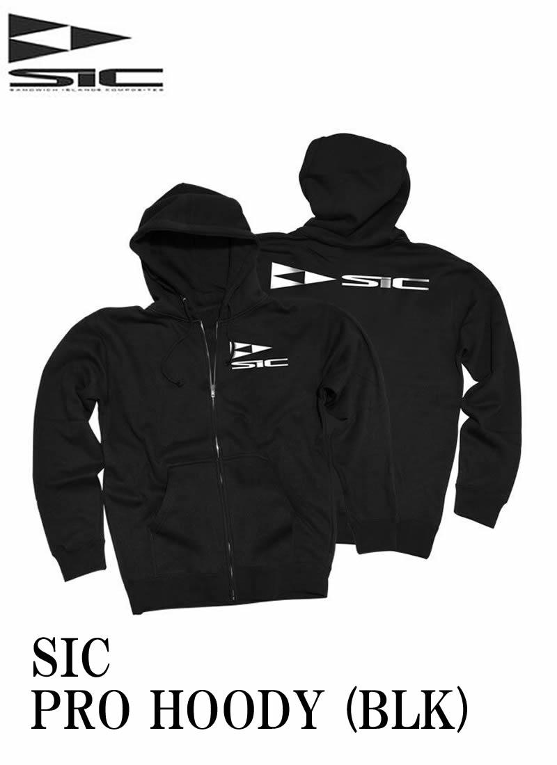 【新品】 SIC(エスアイシー)  PRO HOODY [BLACK] フロントジップパーカー 防水・ 取り外し可能フード サイズ S