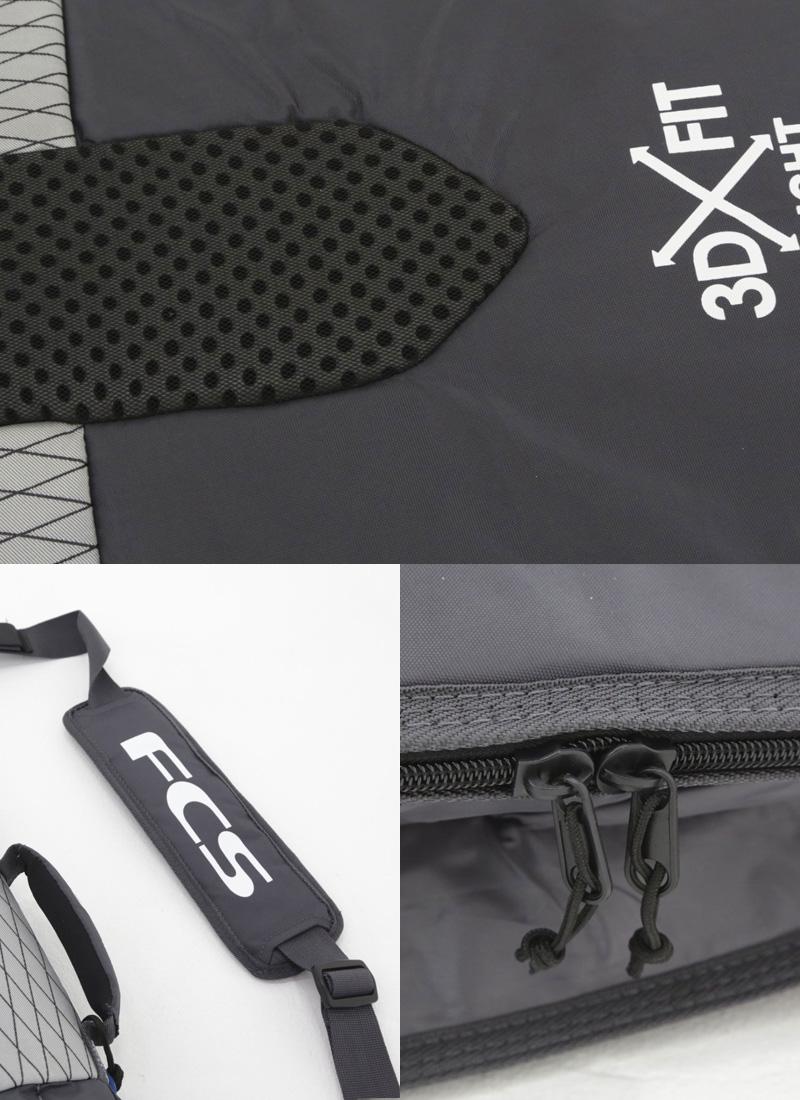 """FCS(エフシーエス)3DXFIT FLIGHT All Purpose [CHARCOAL] ショートボード用 ハードケース 6'3"""" ボードケース"""