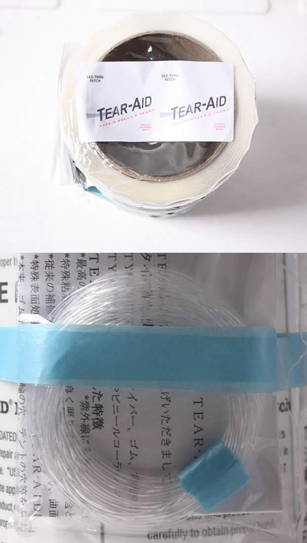 【メーカーお取り寄せ】粘着力・防水性も抜群のリペアテープが登場! TEAR-AID(ティアエイド) ROLL Bタイプ