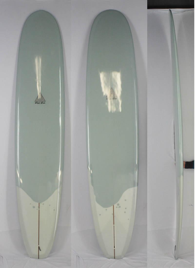 """【新品アウトレット】NIGHT TRAIN SURF BOARD (ナイトトレインサーフボード) STREET WALKER モデル [GRAY]  9'7"""" クラシック シングルフィン ロングボード"""