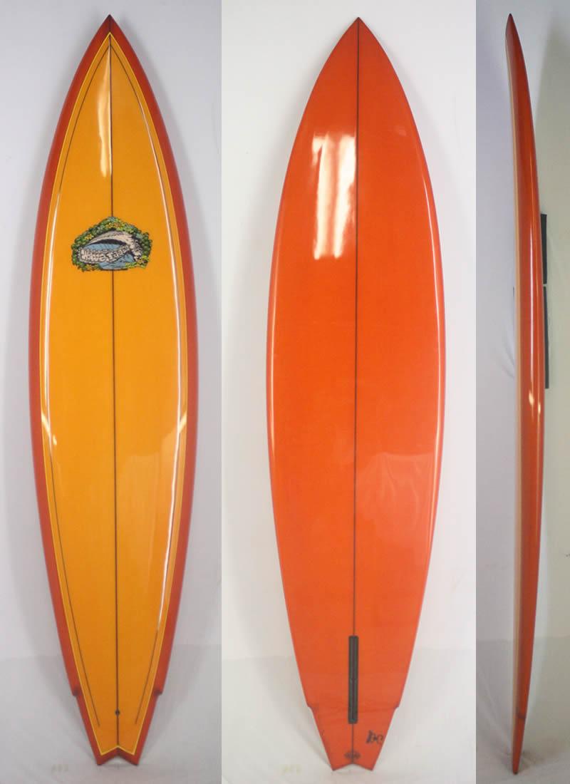"""【新品】 WAVE TOOLS (ウェイブツール)  LANCE CALLINS クラシック サーフボード [ORANGE] 7'6"""" シングルフィン"""