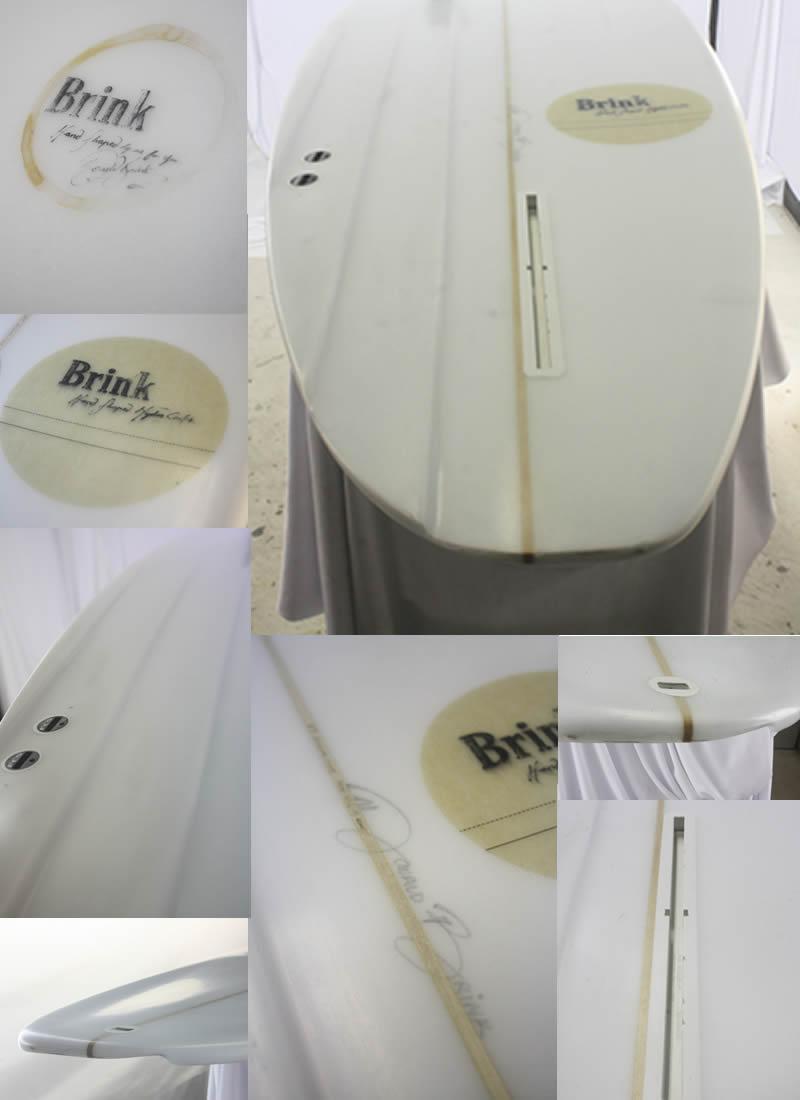 """【新品】 BRINK SURF BOARDS (ブリンクサーフボード) HALF CHANNNEL 非対称 サーフボード [CLEAR] 6'9"""" ショートボード"""