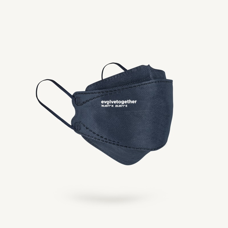 santorini - 5 navy KN95 masks