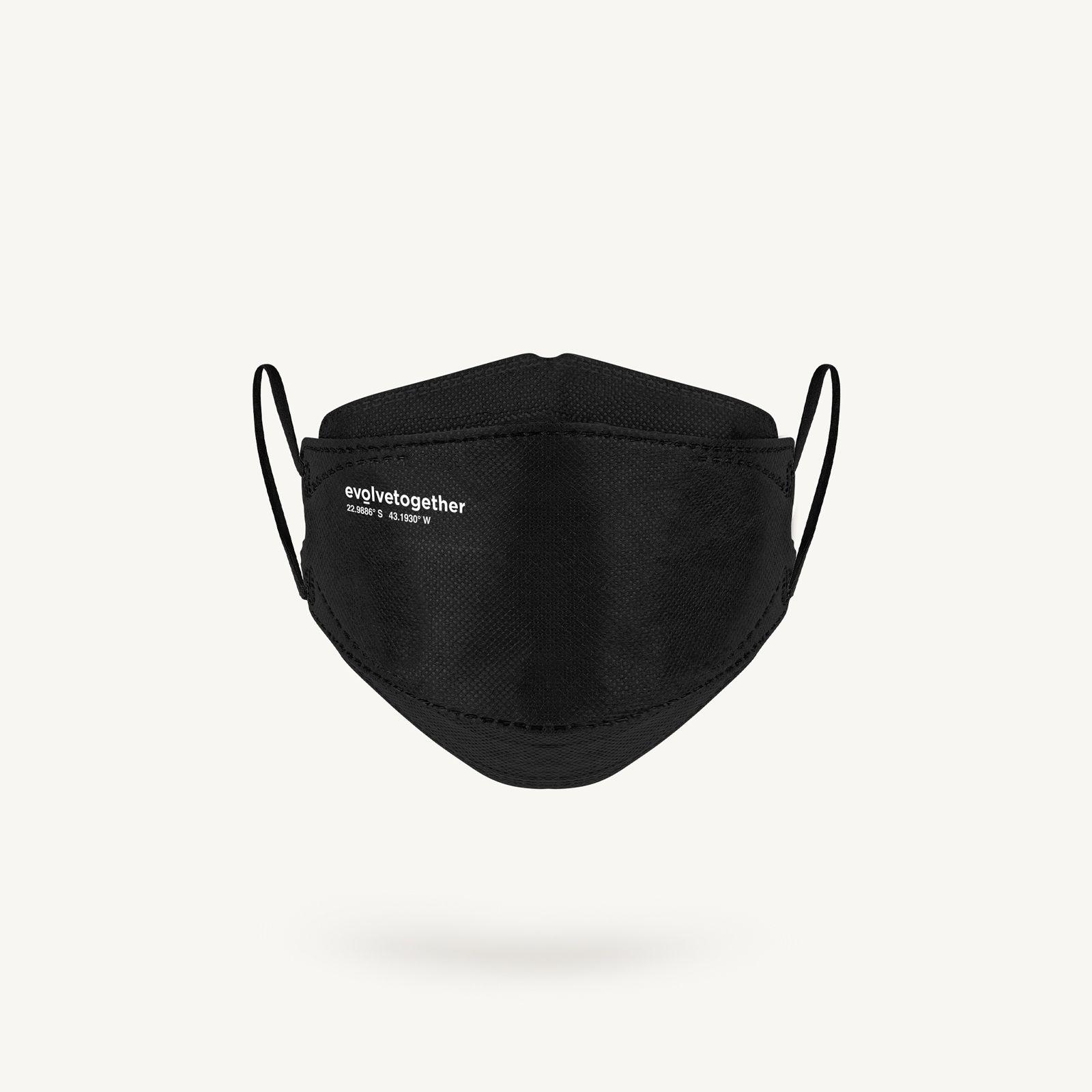 rio - 5 black KN95 masks