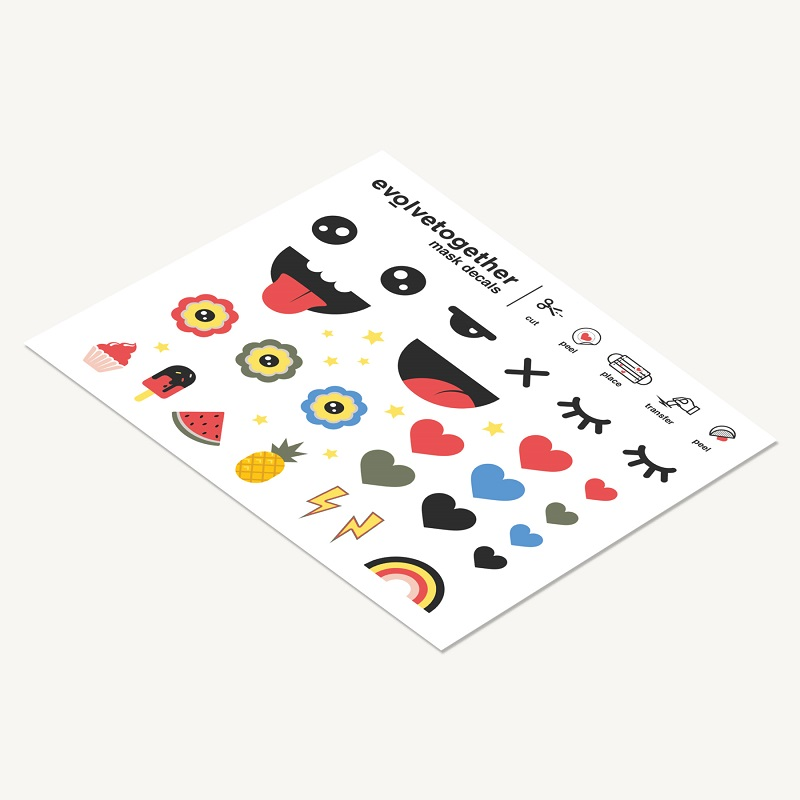 4-color 7 face Kids masks special pack