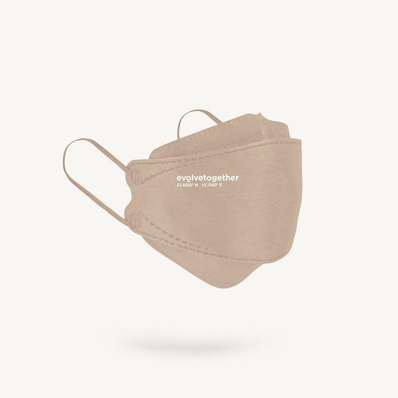 copenhagen - 5 beige KN95 masks