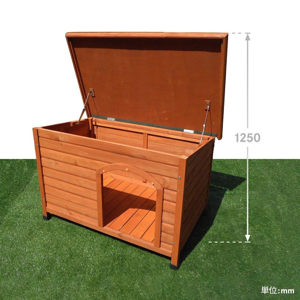 【送料無料】【大型便・時間指定不可】 犬小屋 片屋根木製犬舎 M DHW1018-M 組立品