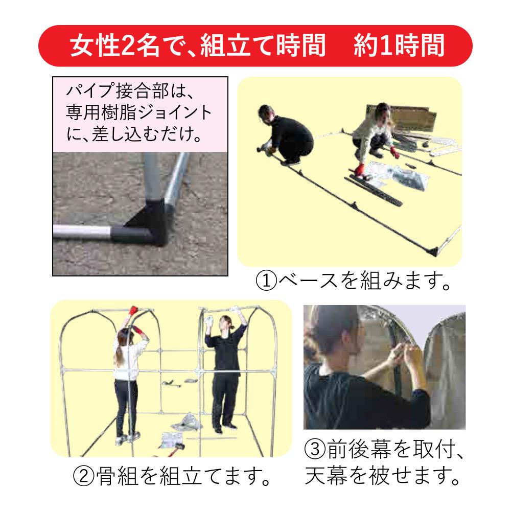 【送料無料】南栄工業 サイクルハウス 3台用 GU グレー