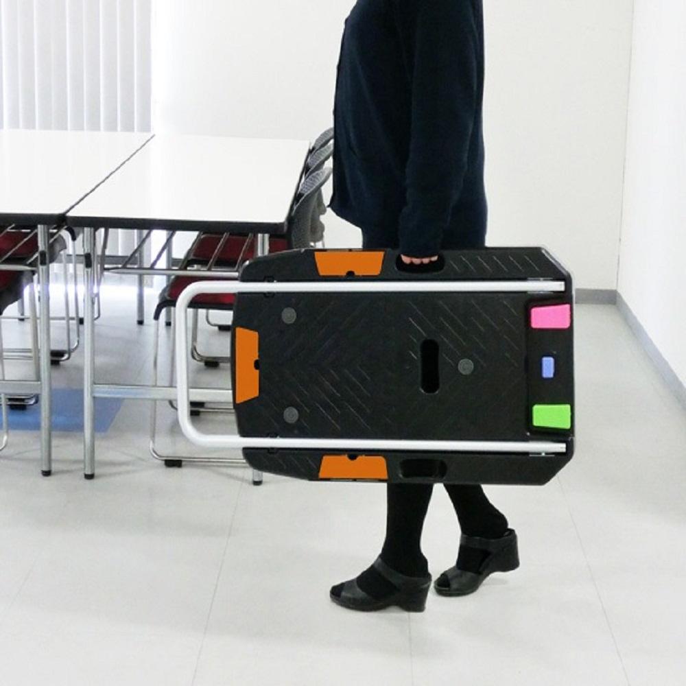 【送料無料】【法人限定】ナンシン サイレントマスター スペシャルブレーキ付微音樹脂手押し台車 CC-101KB2 【メーカー直送・代引不可】