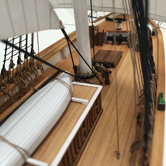 【送料無料】ウッディジョー 木製帆船模型 1/100 カティサーク [帆付き] レーザーカット加工