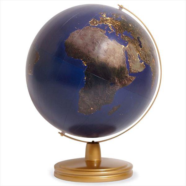 渡辺教具製作所 地球儀 夜の地球儀 No.3058 (金色台)