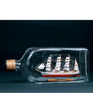 ウッディジョー木製帆船模型ボトルシップ日本丸[レーザーカット加工]※瓶はキットに含まれていません