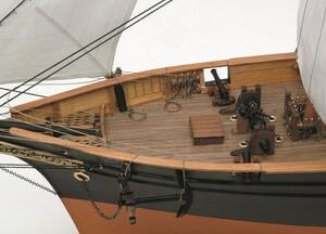 ウッディジョー木製帆船模型1/75咸臨丸[帆付]レーザーカット加工