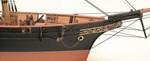 ウッディジョー木製帆船模型1/75咸臨丸[帆無し]レーザーカット加工