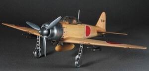 ウッディジョー木製飛行機模型1/24零戦零式艦上戦闘機52丙型[レーザーカット加工]
