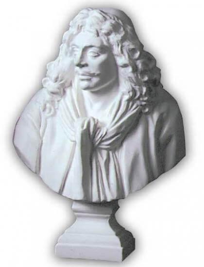 ホルベイン ミニ石膏像 モリエール胸像 412206