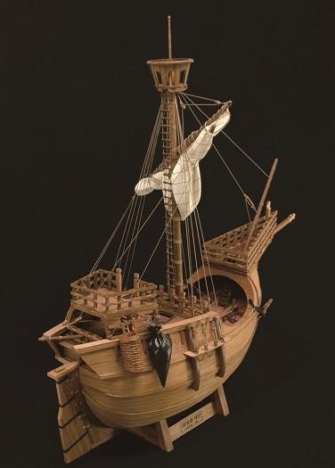 ウッディジョー木製帆船模型1/30カタロニア船レーザーカット加工