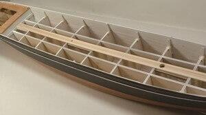 ウッディジョー木製帆船模型1/100カティサーク[帆無し]レーザーカット加工