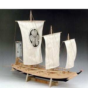 ウッディジョー木製帆船模型1/24八丁櫓レーザーカット加工