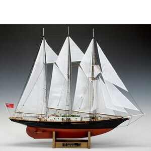 ウッディジョー木製帆船模型1/75サーウィンストンチャーチルレーザーカット加工