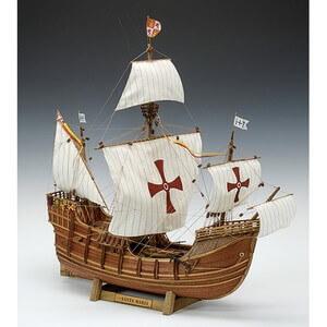 ウッディジョー木製帆船模型1/50サンタマリアレーザーカット加工